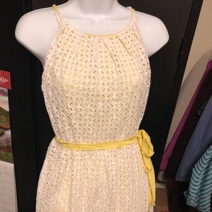 Calvin Klein eyelet dress sz 6